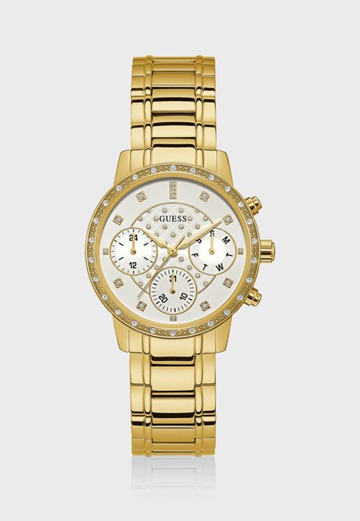 Sunny Crystal White Analog Watch