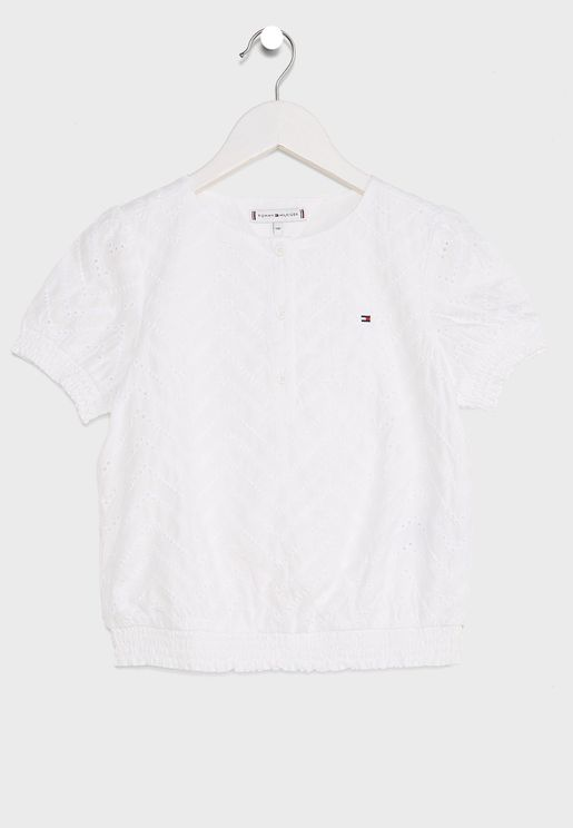 Kids Broderie Anglaise Top