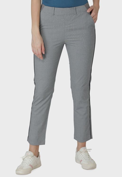 Structured Side Tape Pants
