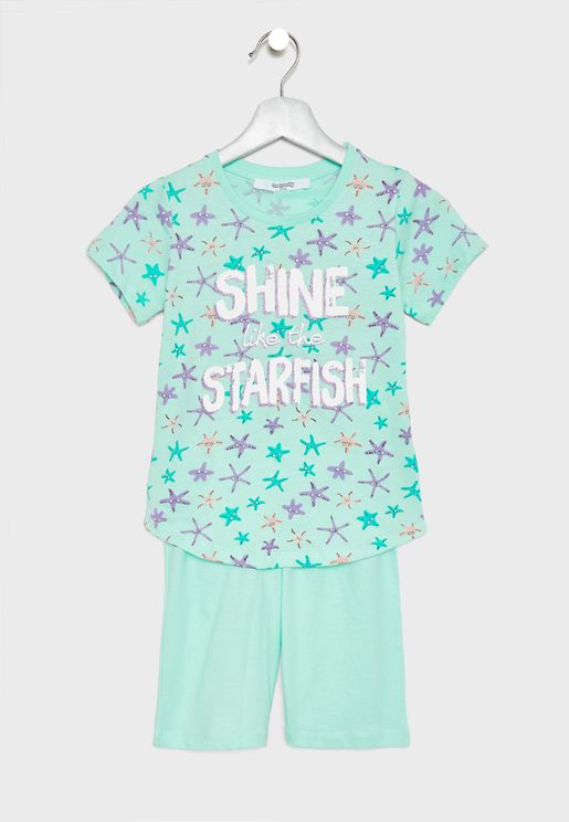 Infant Starfish T-Shirt + Shorts Set