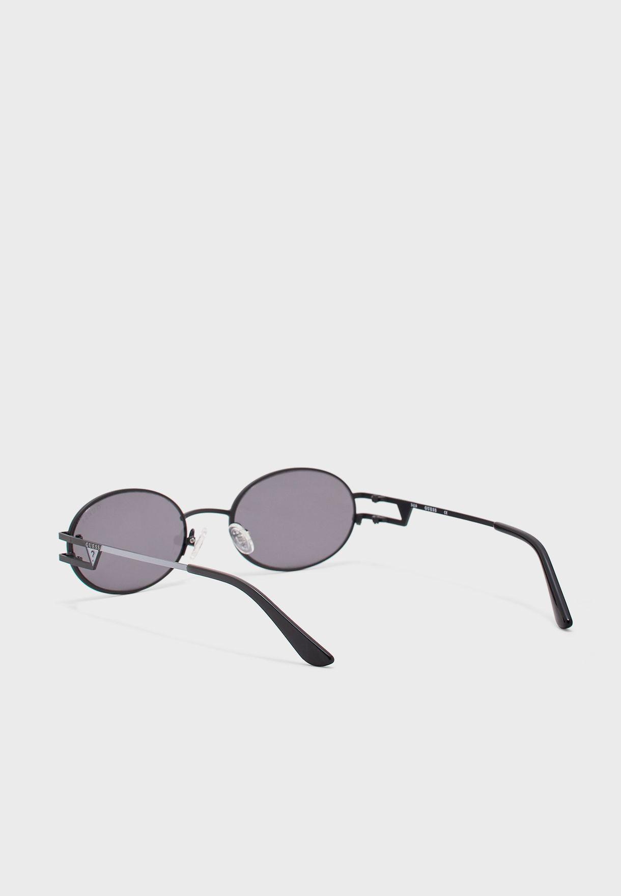 Smoke Metal Round Sunglasses