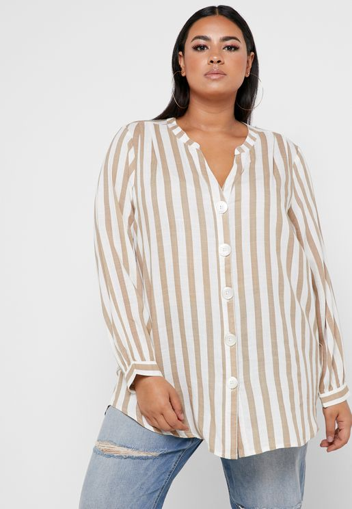 f59e42df075 Striped Button Through Shirt