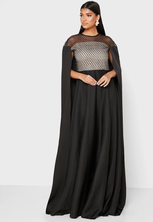 فستان بنمط كاب