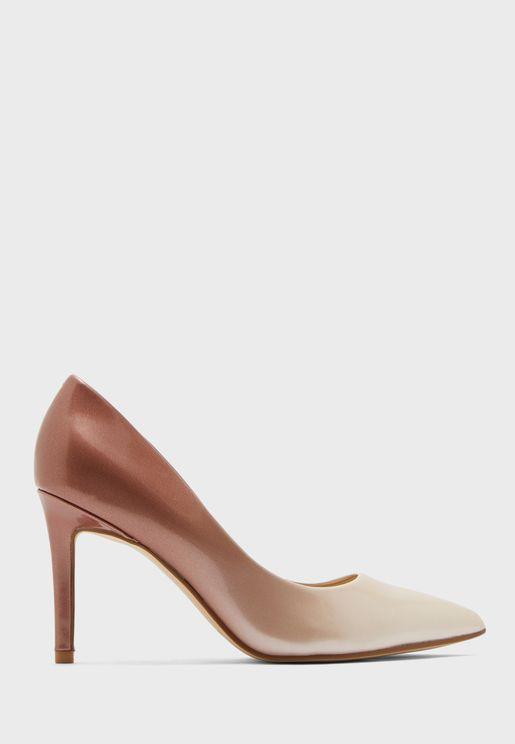 حذاء كعب عالي بنمط اومبري