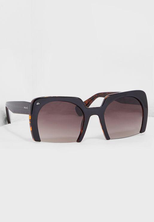 نظارة شمسية بنمط صدفة سلحفاة