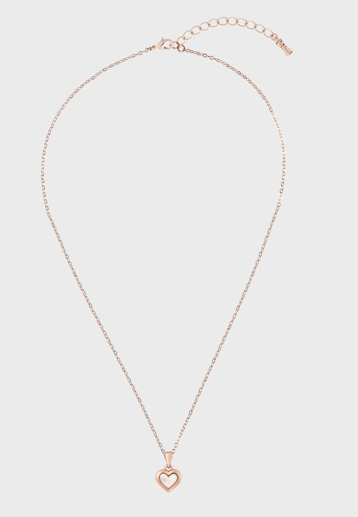 Harriot Mother Of Pearl Heart Pendant Necklace