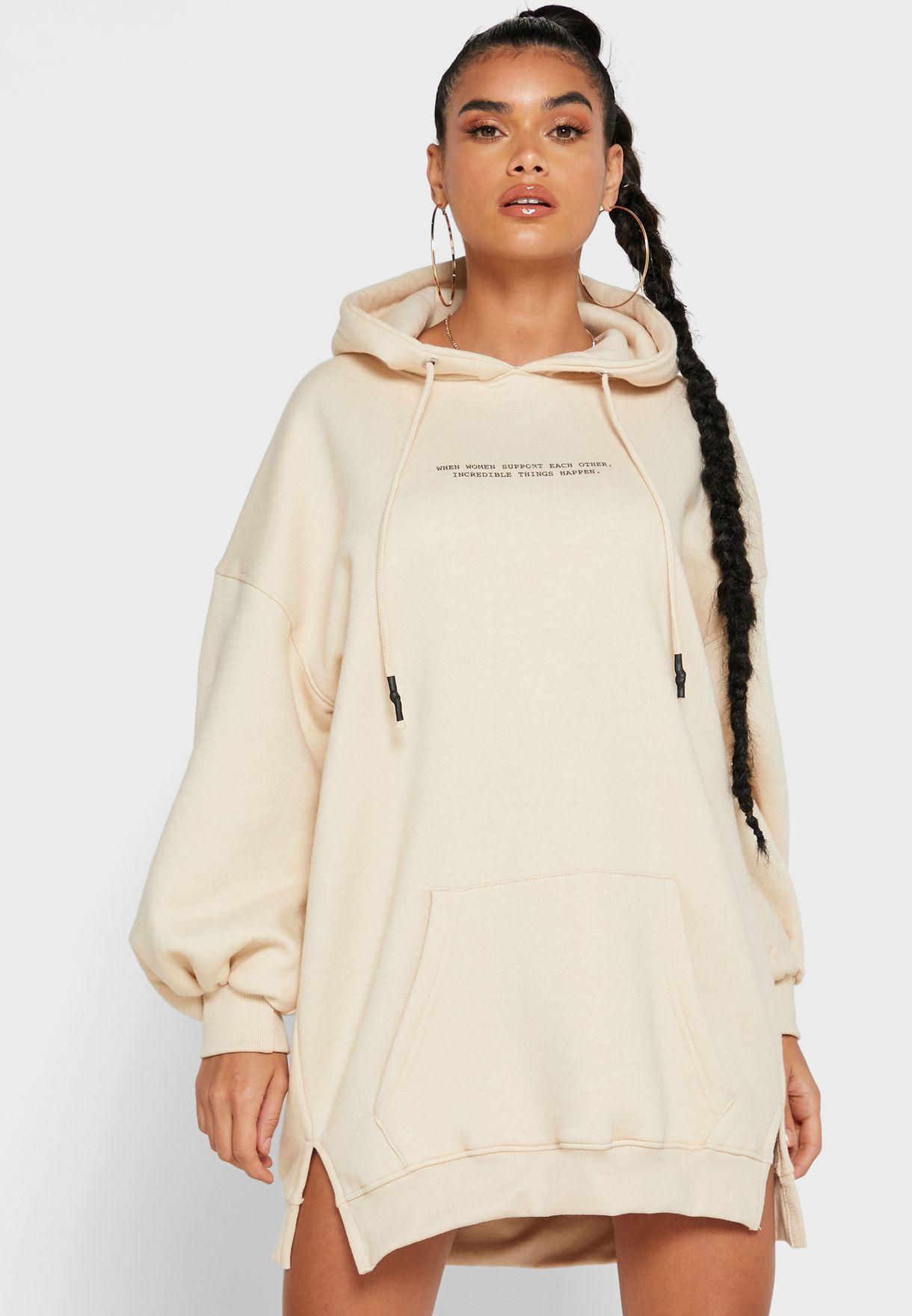 Oversized Hooded Sweat Dress