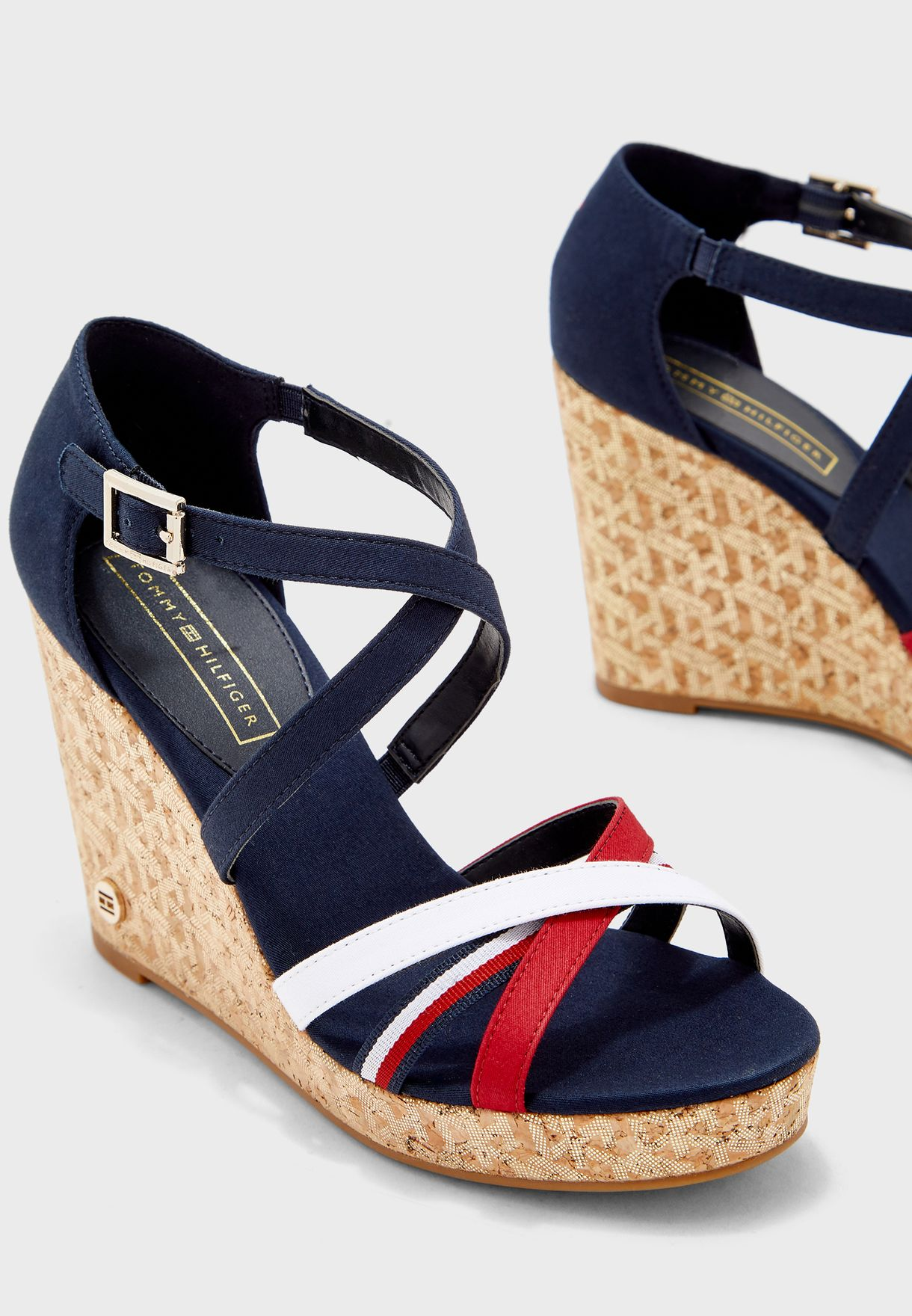 Tommy Hilfiger Corporate Detail High Wedge Womens Sandals