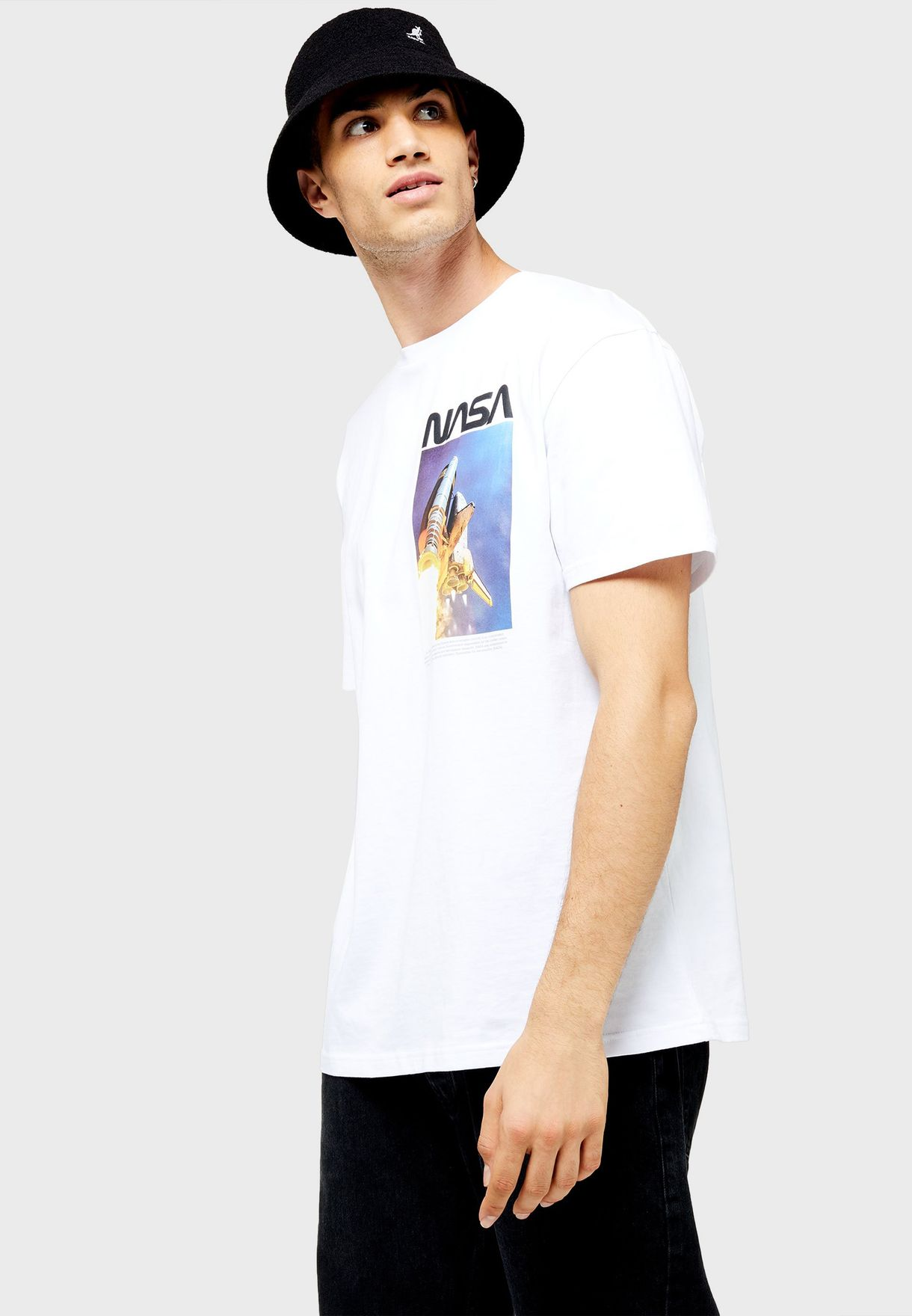 Nasa Oversized Crew Neck T-Shirt