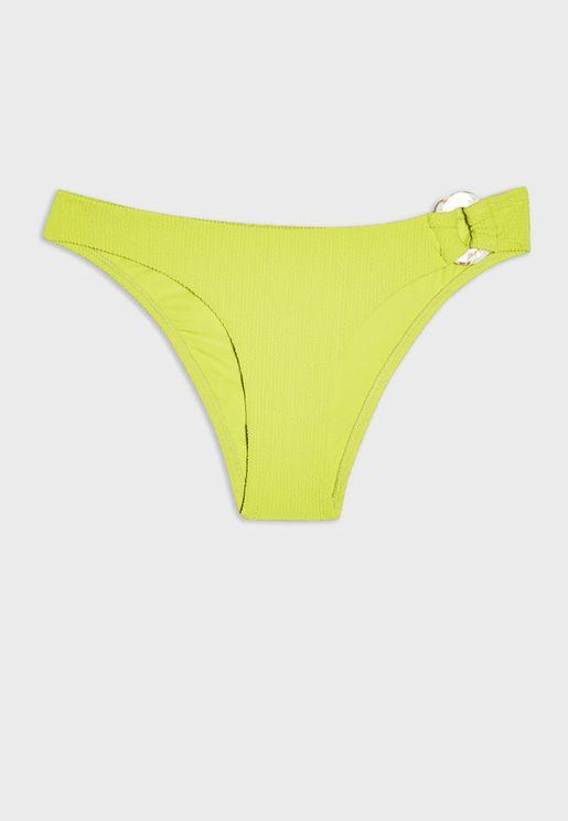 Buckle  Detail Bikini Bottom