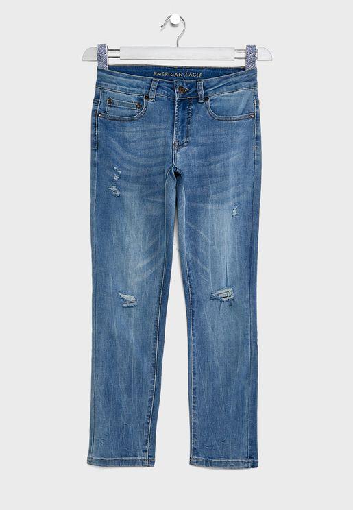 Kids Destroyed Skinny Jeans