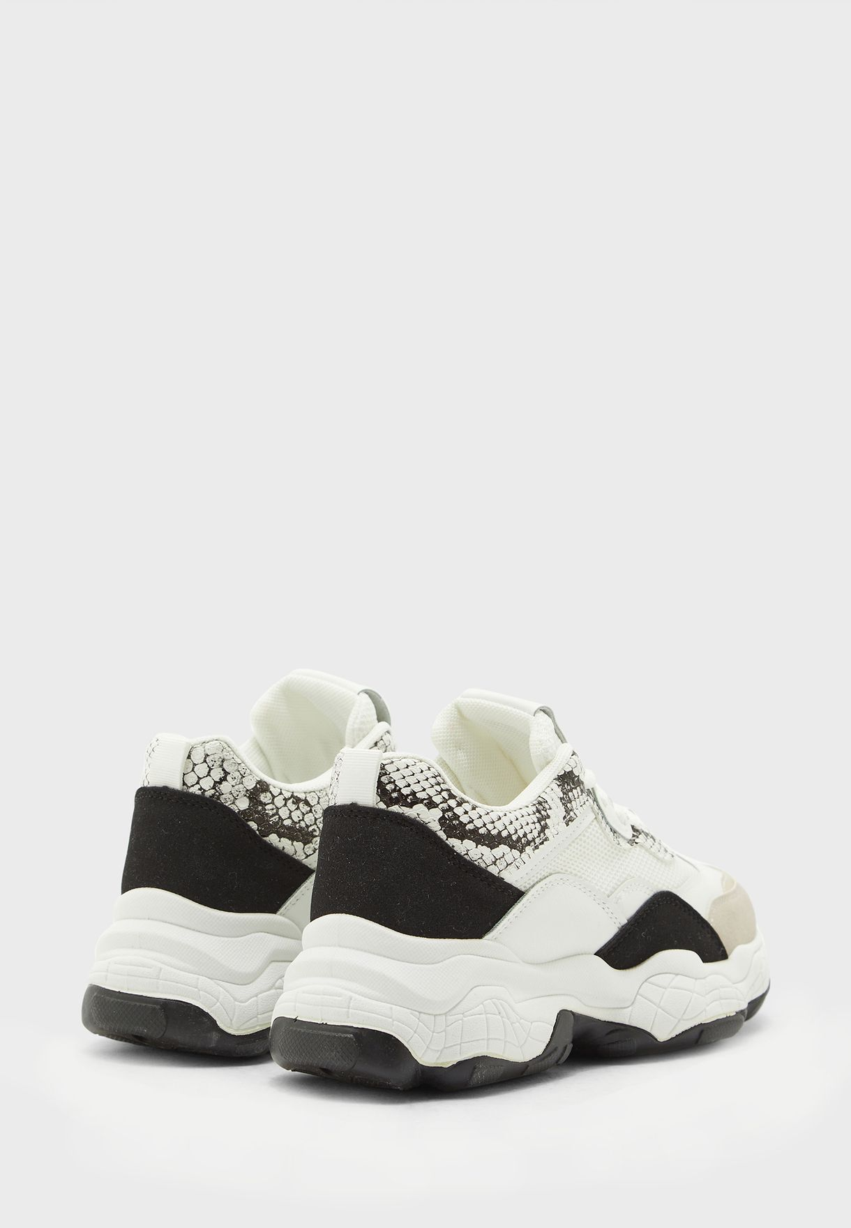 Snake Detail Chunky Sneakers
