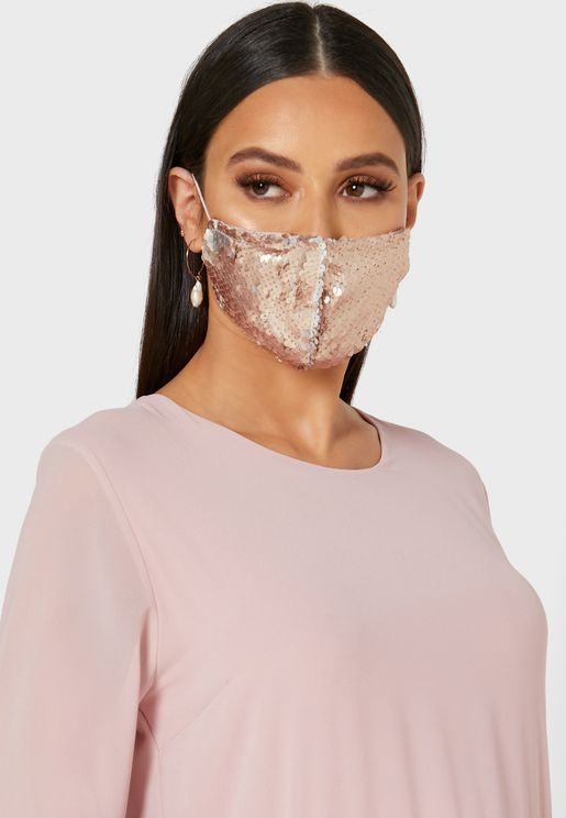 Color Sequin Mask