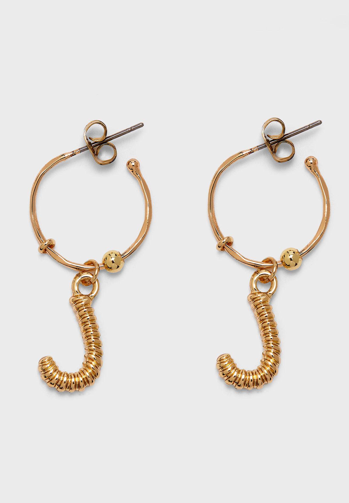 """Magda Hoop Earrings """"K"""""""