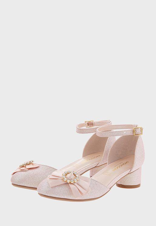 Kids Bow Shimmer Sandal