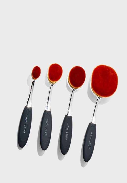 Pack of 4 Oval Brush Set
