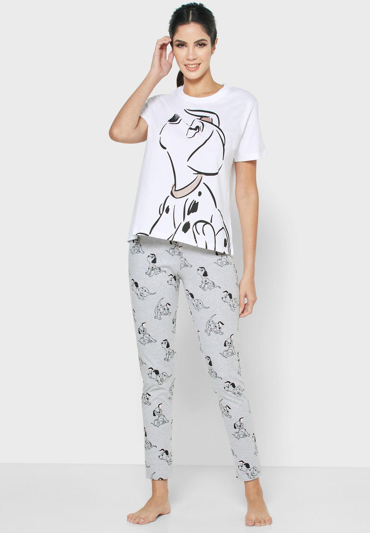 Dalmatian Print T-shirt and Pyjama Set