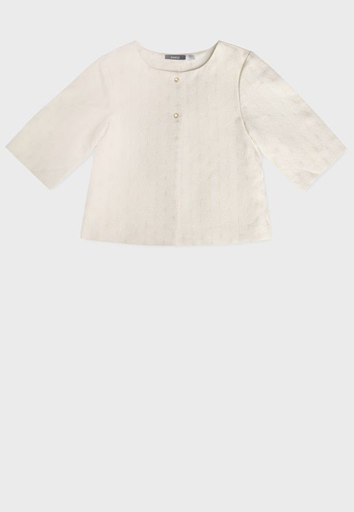 Youth Dandelion Embroidered Top