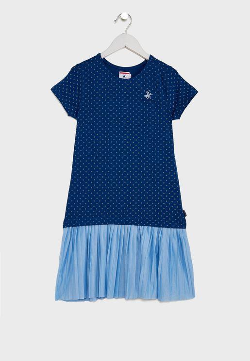 Kids Dot Print Dress