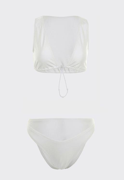 Plunge Bikini Top & Bikini Bottom Set