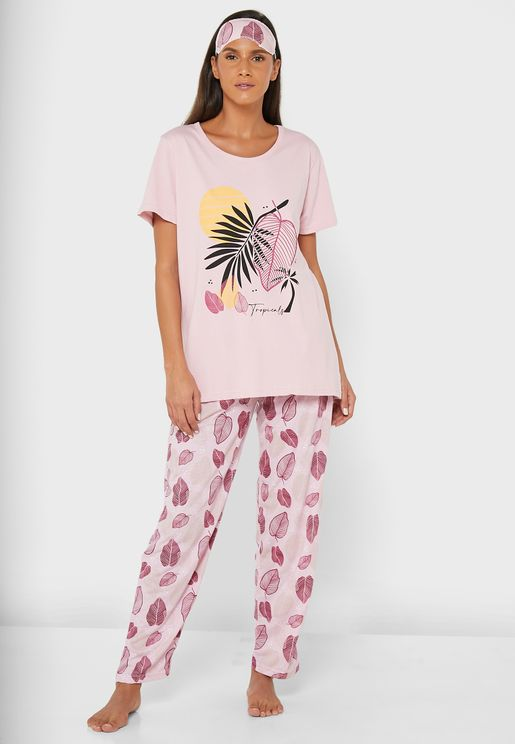 Printed T-Shirt & Pyjama Set