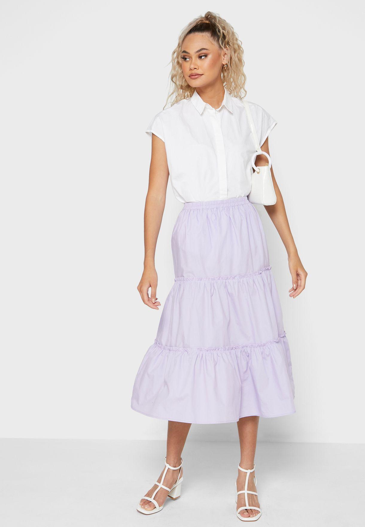Tiered Smock Skirt