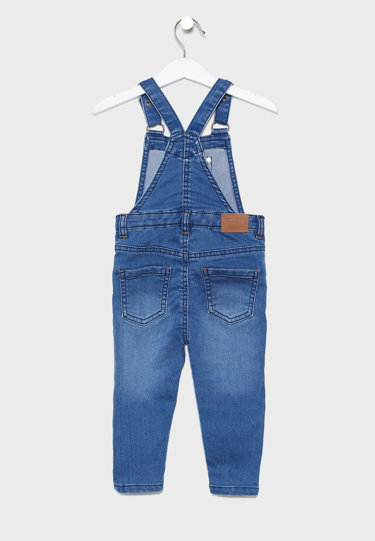 Kids Striped T-Shirt+Denim Dungaree Set