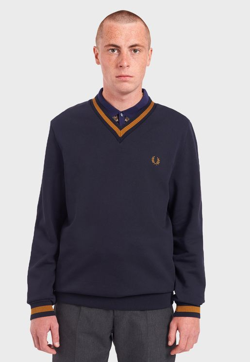 Tipped Loopback Sweatshirt