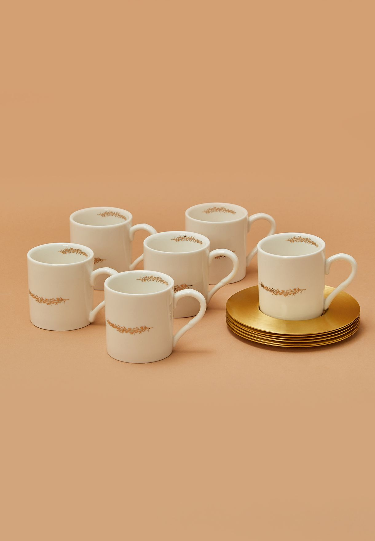 6 Pack Espresso Cup With Saucer