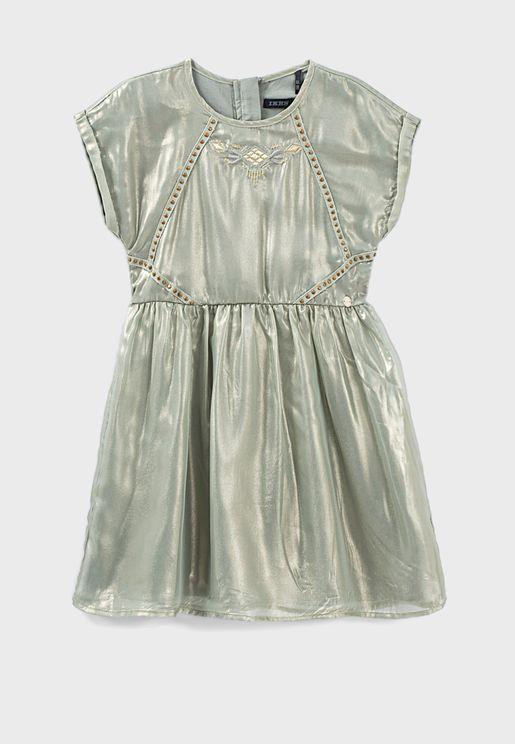 فستان تول ميتاليك للاطفال