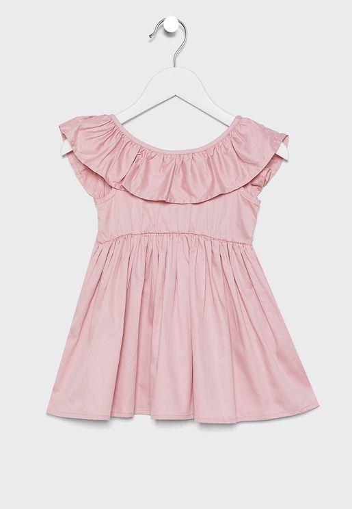 فستان اطفال بكسرات