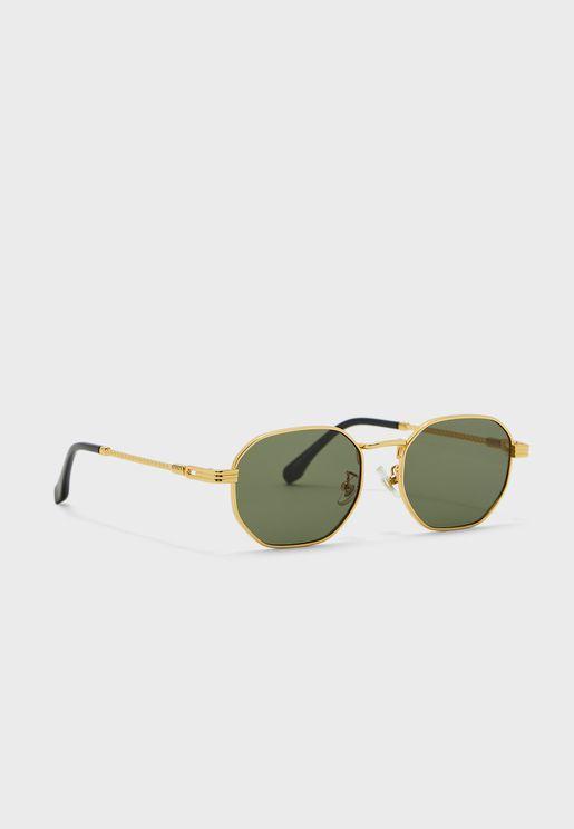 نظارة شمسية بعدسات سداسية الشكل