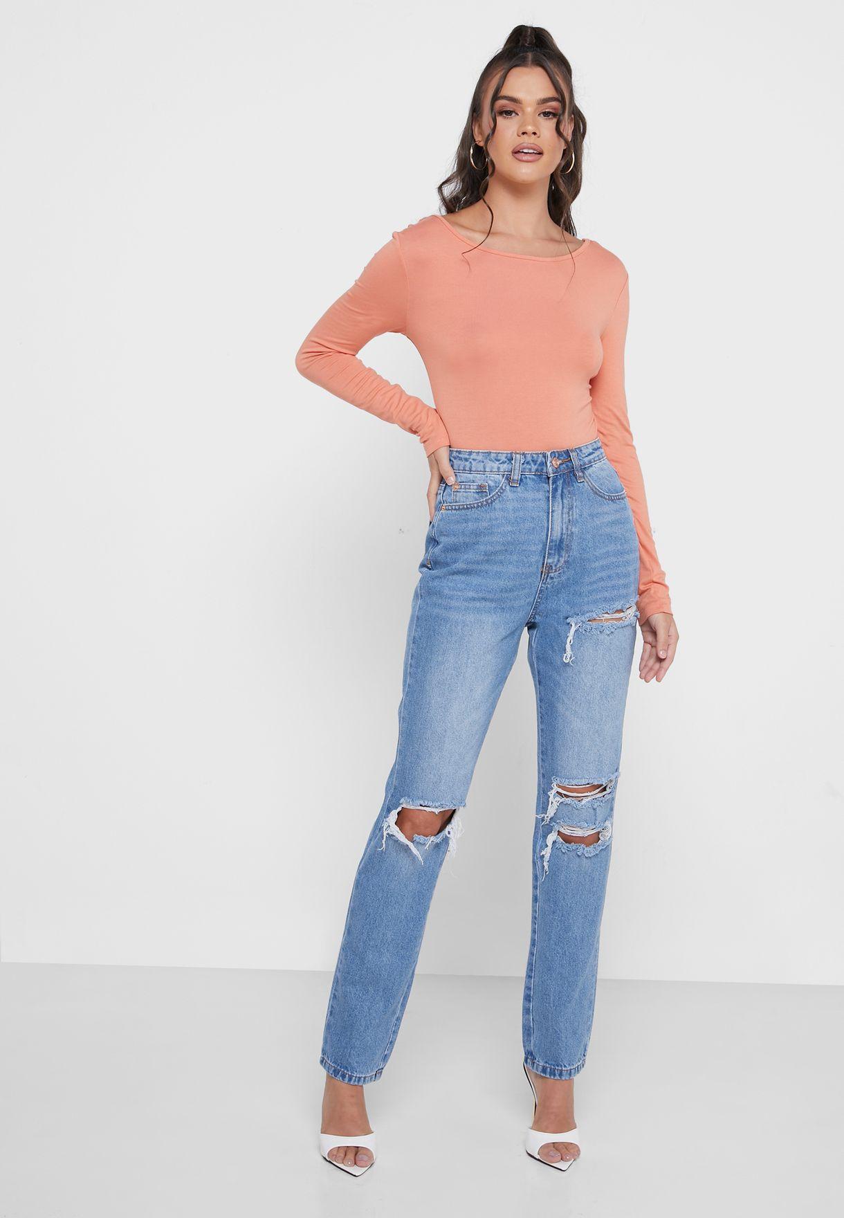 Distressed Knee Wrath Jeans
