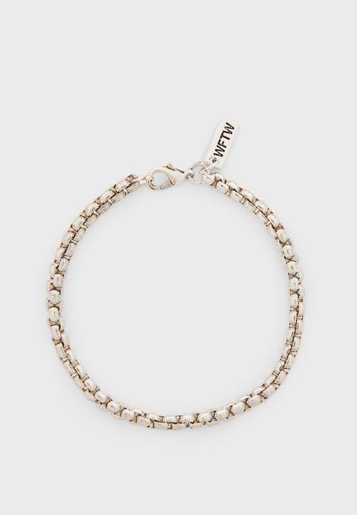Rounded Box Chain Bracelet