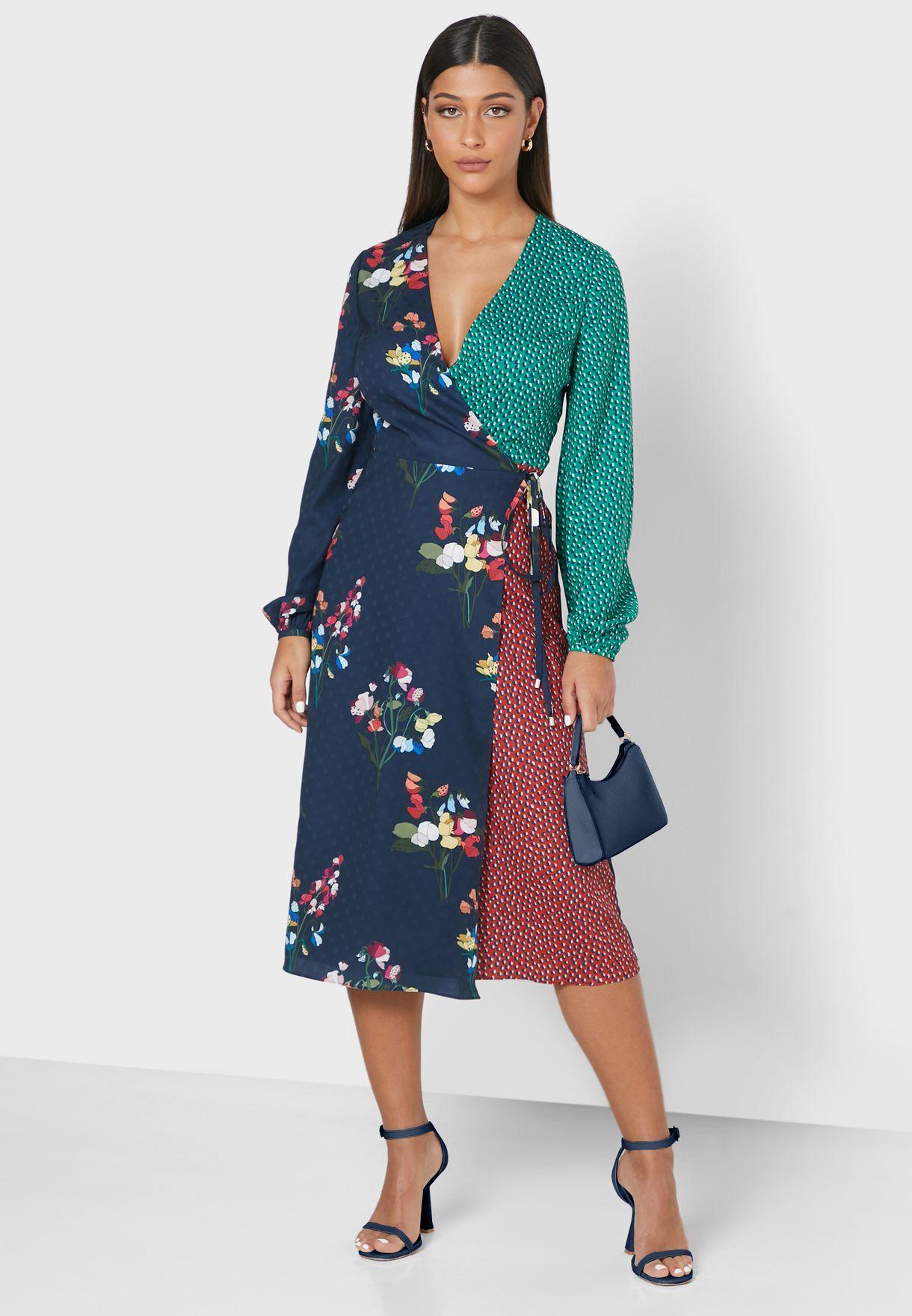 Talissa Floral Print Wrap Dress