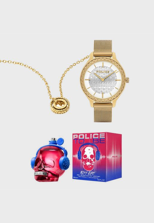 Watch + Necklace + Perfume Gift Set