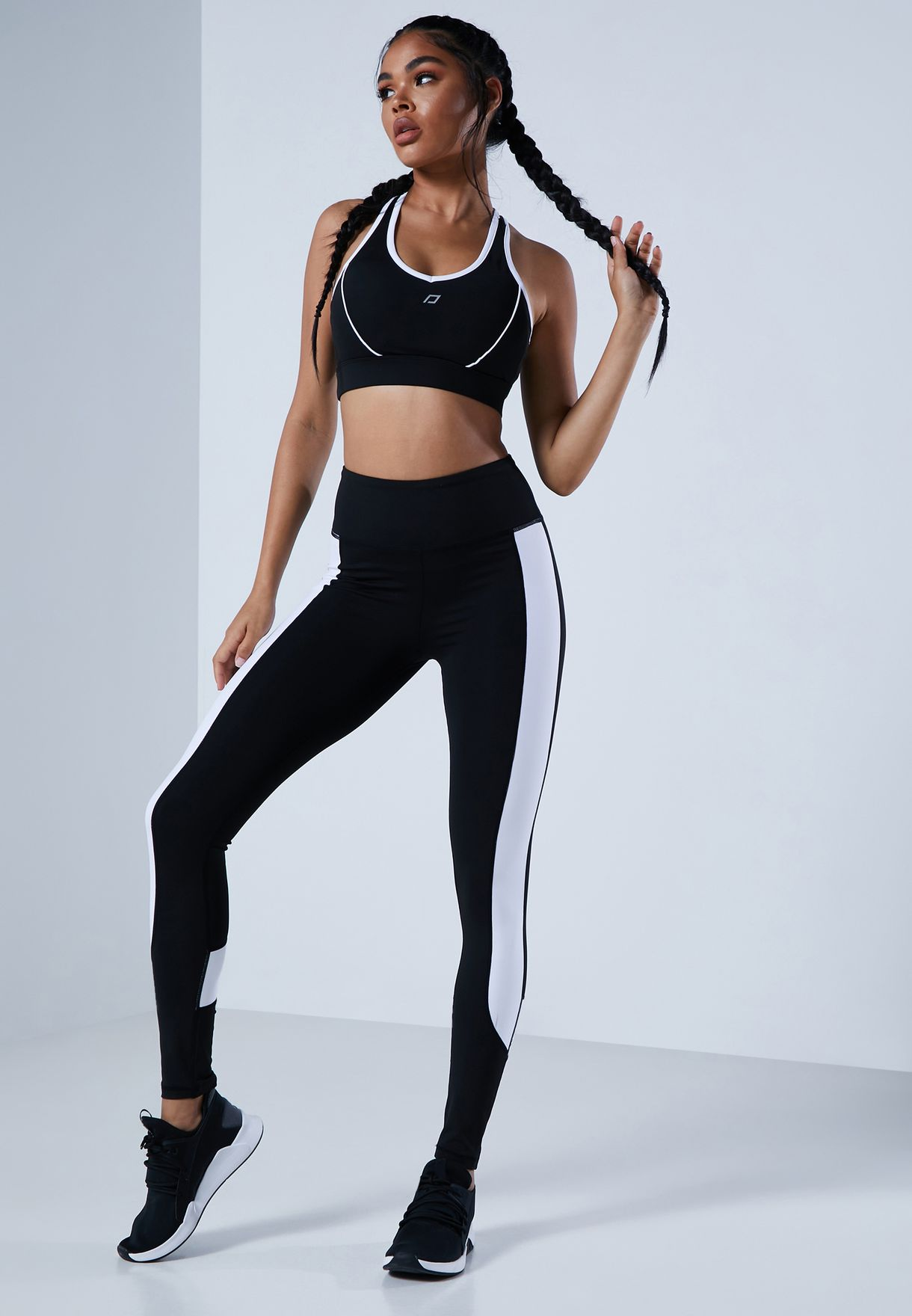 Contrast Side Panel Training Legging