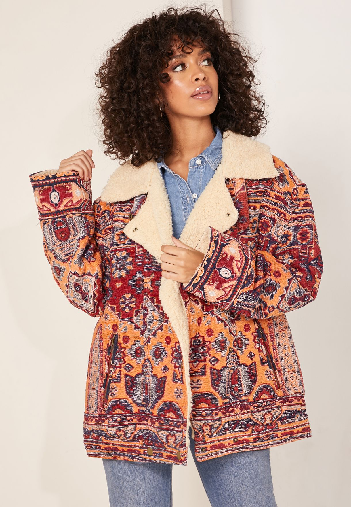 Star Valley Printed Coat