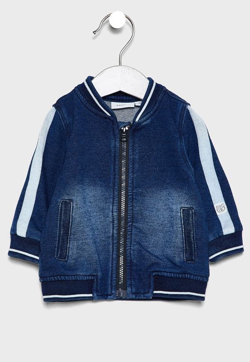 Infant Denim Baseball Jacket