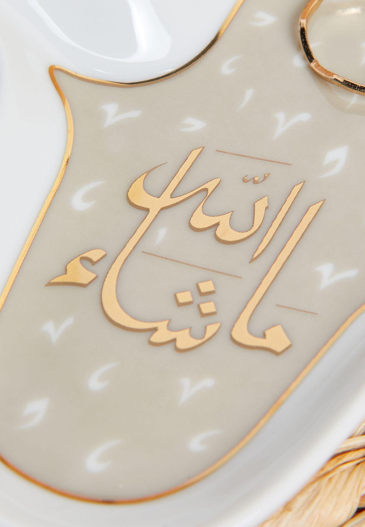 Mashallah Hand of Fatma Trinket Tray