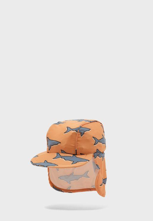 Infant Shark Print Swim Cap
