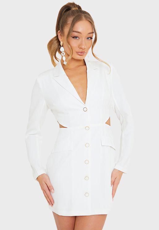 Cut Out Blazer Dress
