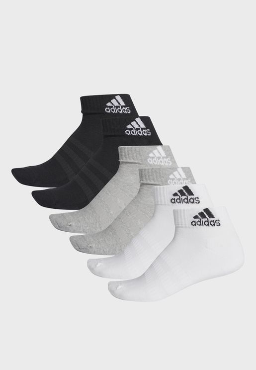 6 Pack Cushion Ankle Socks