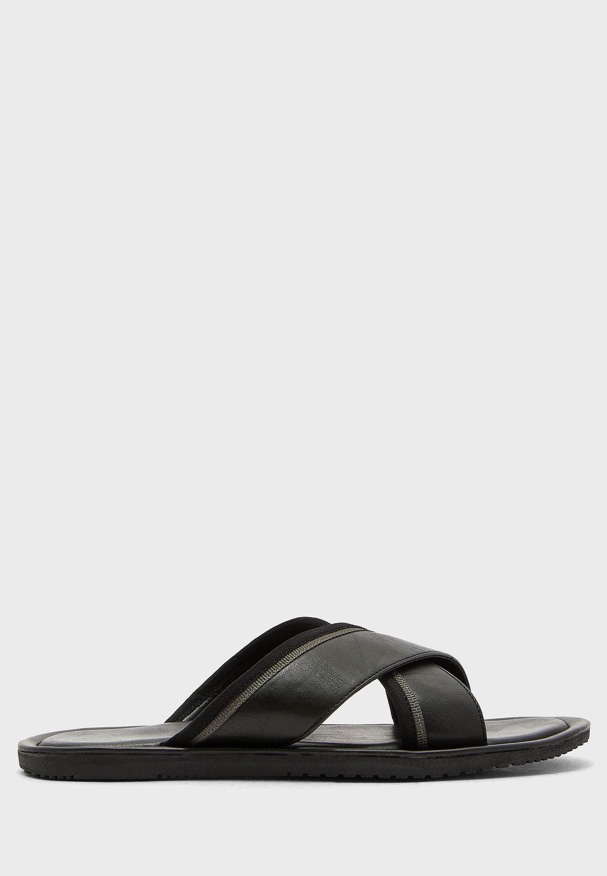 Webbing Cross Strap Sandals