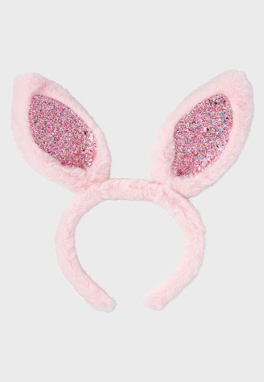 Kids Glitter Bunny Headband