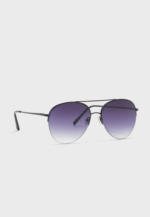 Graduated Lens Aviator Sunglasses