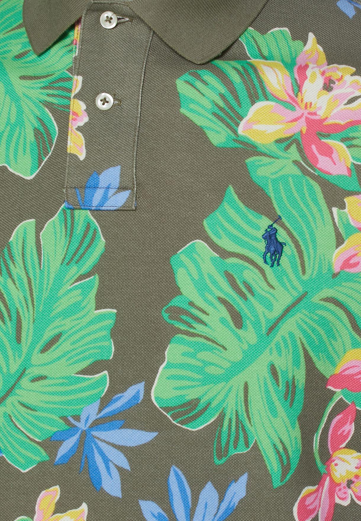 Tropical Print Polo
