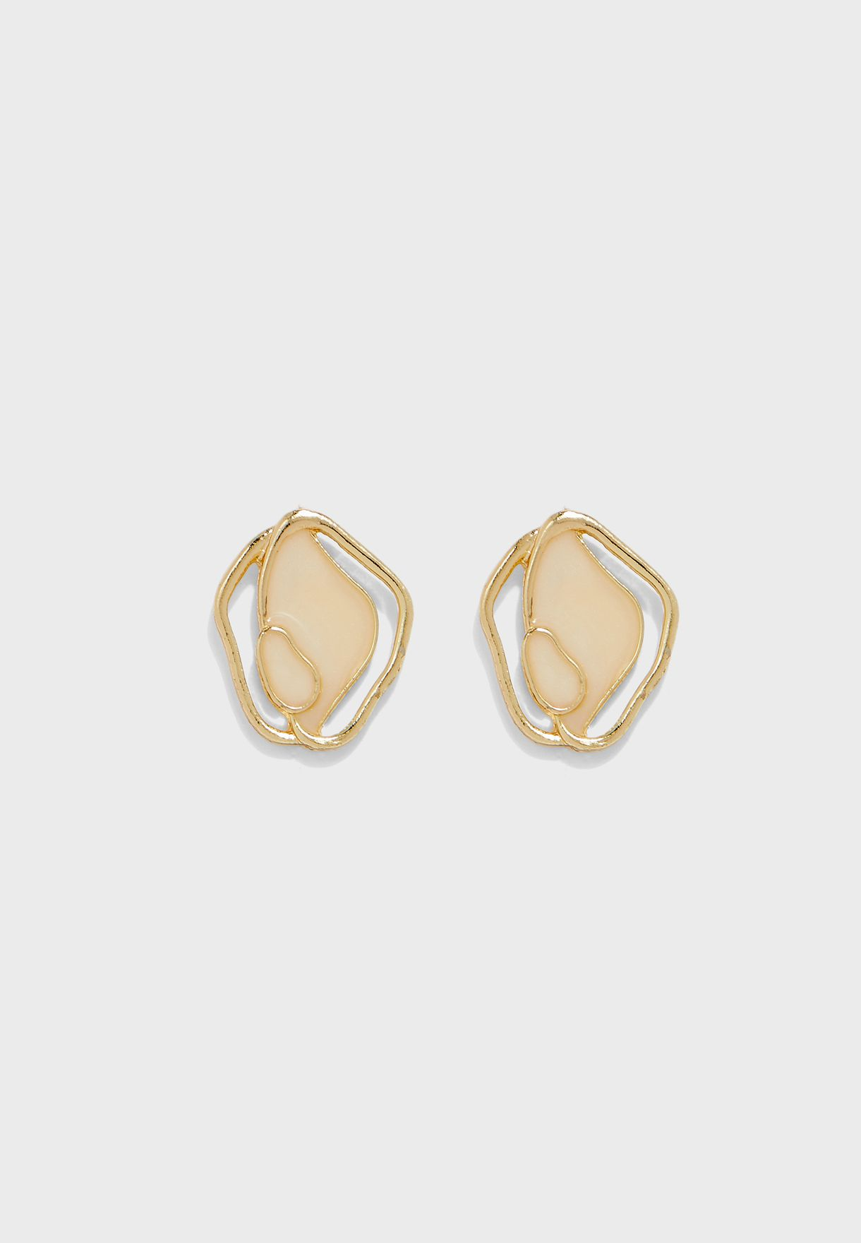 Abstract Marble Effect Stud Earring