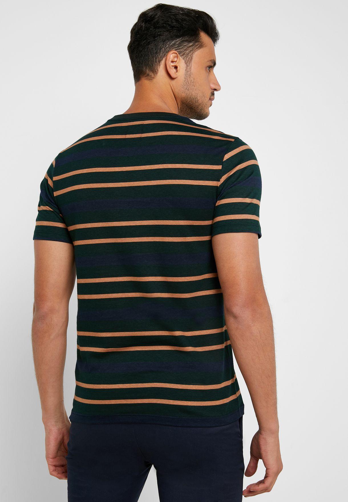 Stripes Crew Neck T-Shirt