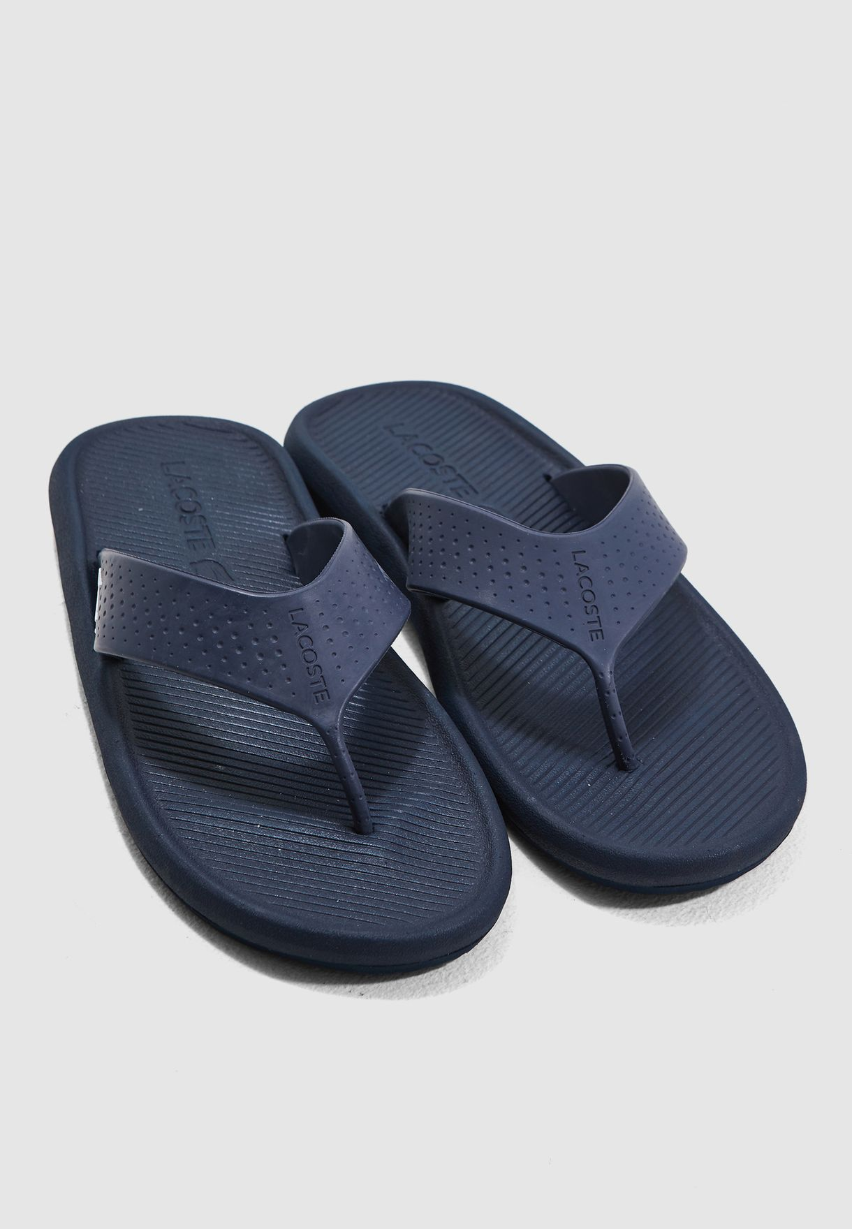 c0545f2c7 Shop Lacoste navy Croco Flip Flops 37CMA0015-092 for Men in Oman ...